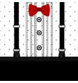postcard gentleman children s tuxedo for boys vector image
