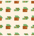 purse wallet with money business financial vector image