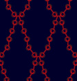 Red chain pattern vector image vector image