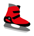 red ice skates mens vector image vector image
