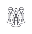 remote office team line icon concept remote vector image