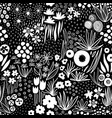repeating white liberty doodle flower meadow vector image vector image