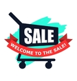 Sale modern flat icon vector image vector image