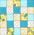 Seamless pattern from blue scrappy blanket vector image vector image