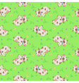 seamless pattern with cartoon styled cows vector image vector image