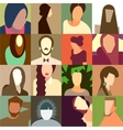 Set of various avatar faces vector image vector image