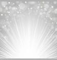 silver sunburst background vector image vector image