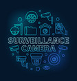 Surveillance camera blue circular