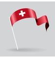 Swiss wavy flag vector image vector image