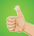 thumbs up color vector image