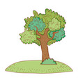 tree on nature vector image