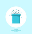 trendy icon giftbox with ribbons vector image vector image