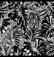 tropical palm monstera leaves with leopard skin vector image vector image
