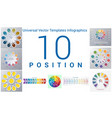 universal templates set infographics 10 positions vector image vector image