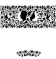 wedding silhouette flourishes seamless pattern vector image vector image