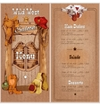 Wild west saloon menu vector image vector image