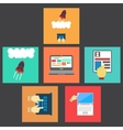 Work with gadgets icons vector image vector image