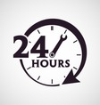 Twenty four hours icon vector image