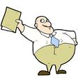 comic cartoon happy boss with file vector image