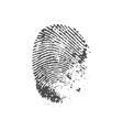 a fingerprint vector image