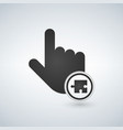 a pointing finger hand with a puzzle piece in vector image vector image