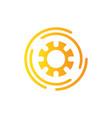abstract flow logo template design logo vector image vector image