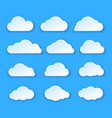 abstract paper clouds set white paper clouds vector image