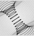 abstract tunnel grid array with dynamic particles