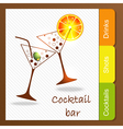 Alcohol bar vector image