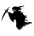 black silhouette creepy or spooky halloween vector image