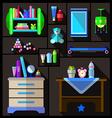Boys bedroom furniture sets vector image