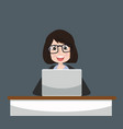 business woman working concept vector image