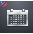 Calendar icon symbol 3D style Trendy modern design vector image