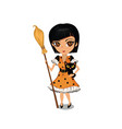 cartoon girl dressed in a witch costume vector image vector image