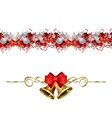 christmas decorations with fir tree vector image vector image