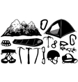 climbing equipment collage vector image