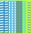 colorful seamles pattern of skyscrapers vector image