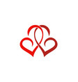 couple love swirl logo vector image vector image