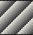 diagonal zigzag lines seamless pattern halftone vector image