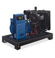 diesel generator vector image vector image