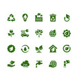 ecology and industry related icon set vector image