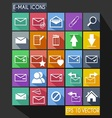 Email Flat Icon Long Shadow vector image vector image