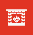 fireplace icon hearth and chimney fire vector image vector image