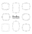 Flourish Border Set vector image vector image