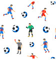 football players seamless pattern sport vector image