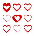 Hand drawn hearts design elements for valentine s
