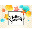 hand lettering summer phrase - hello summer vector image vector image