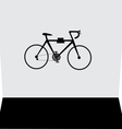 hanging bicycle on the wall vector image vector image