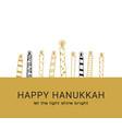 hanukkah greeting card jewish holiday symbols vector image vector image