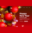 happy new year web page template vector image